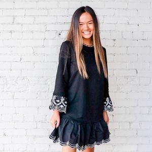 Dresses & Skirts - BROOKY EMBROIDERED POPLIN DRESS